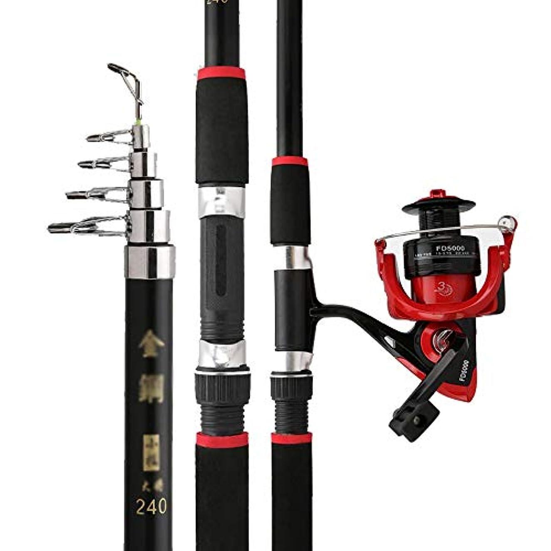 無限贈り物達成可能海釣りセット 釣りロッドリールコンボラインルアーフック旅行スタータープロフェッショナルフルセットをスピニングでキットをタックル 理想的な釣り道具 (Color : A, Size : 2.1m)