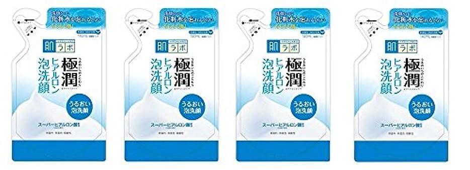 囲いクライストチャーチひそかに【まとめ買い】肌ラボ 極潤 ヒアルロン泡洗顔 つめかえ用 140mL×4個
