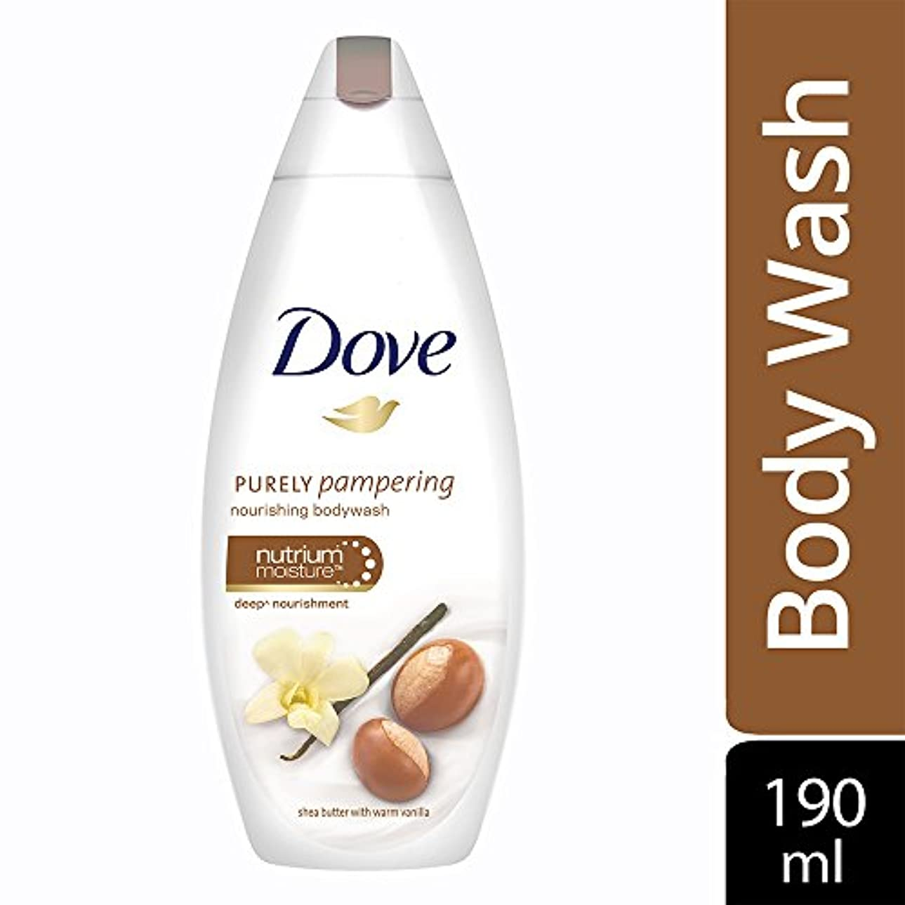 マインドマッサージ険しいDove purely pampering Shea Butter and Warm Vanilla Body Wash, 190ml
