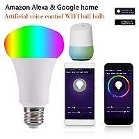 Wifiスマート電球色調光対応LEDライトB22バヨネット60W相当電球、スマートデバイスによるリモートコントロール、Amazon Alexa&Googleホームによる音声コントロールハブは不要,E27