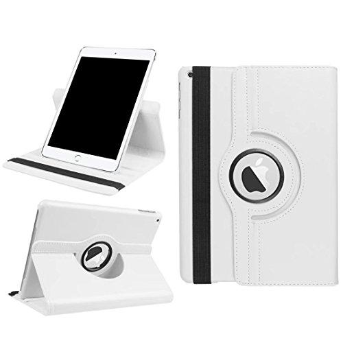 TopACE iPad Pro 10.5インチ ケース Apple iPad Pro 10.5 専用保護ケース カバー 360°回転式 スタンド機能付き 高品質レザーケース (ホワイト)