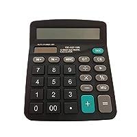 Dream 電卓 12桁 計算機 大型 簿記 電卓 卓上計算機 おしゃれ (ブラック)