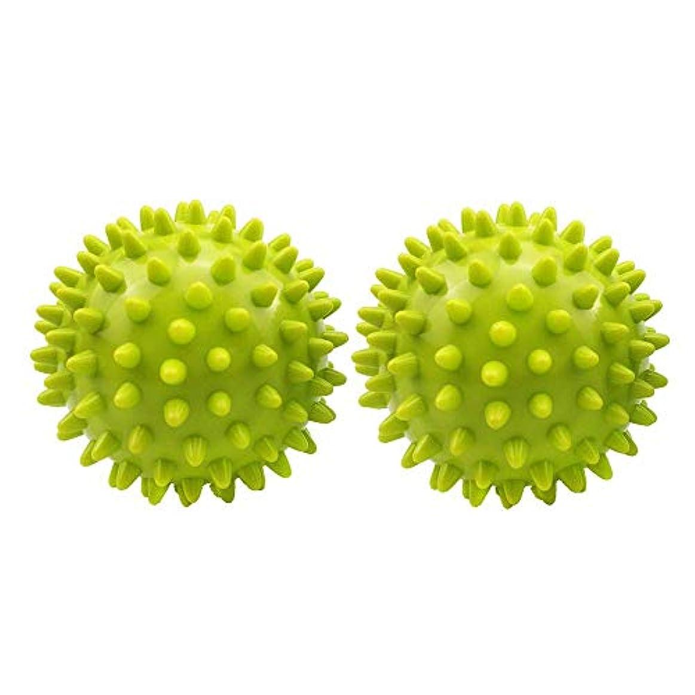 鋼一般的に言えば教育学マッサージボール 筋膜リリー 肩 背中 触覚ボール 自宅用 オフィス用 グリーン 2個セット