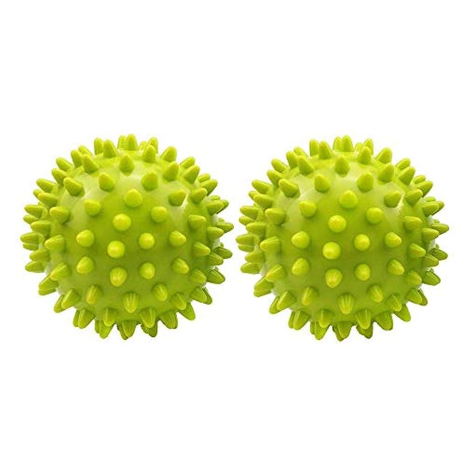ウォルターカニンガム協力自発的マッサージボール 筋膜リリー 肩 背中 触覚ボール 自宅用 オフィス用 グリーン 2個セット