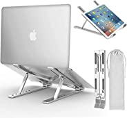 Laptop Stand, Adjustable Ergonomic Laptop Stand with Laptop Stand, Aluminum Folding Desk Stand, Compatible wit