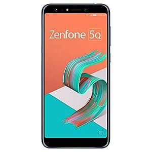 ASUS ZenFone 5Q 【日本正規代理店品】 6.0インチ/SIMフリースマートフォン/ミッドナイトブラック (4GB/64GB/3,300mAh) ZC600KL-BK64S4/A