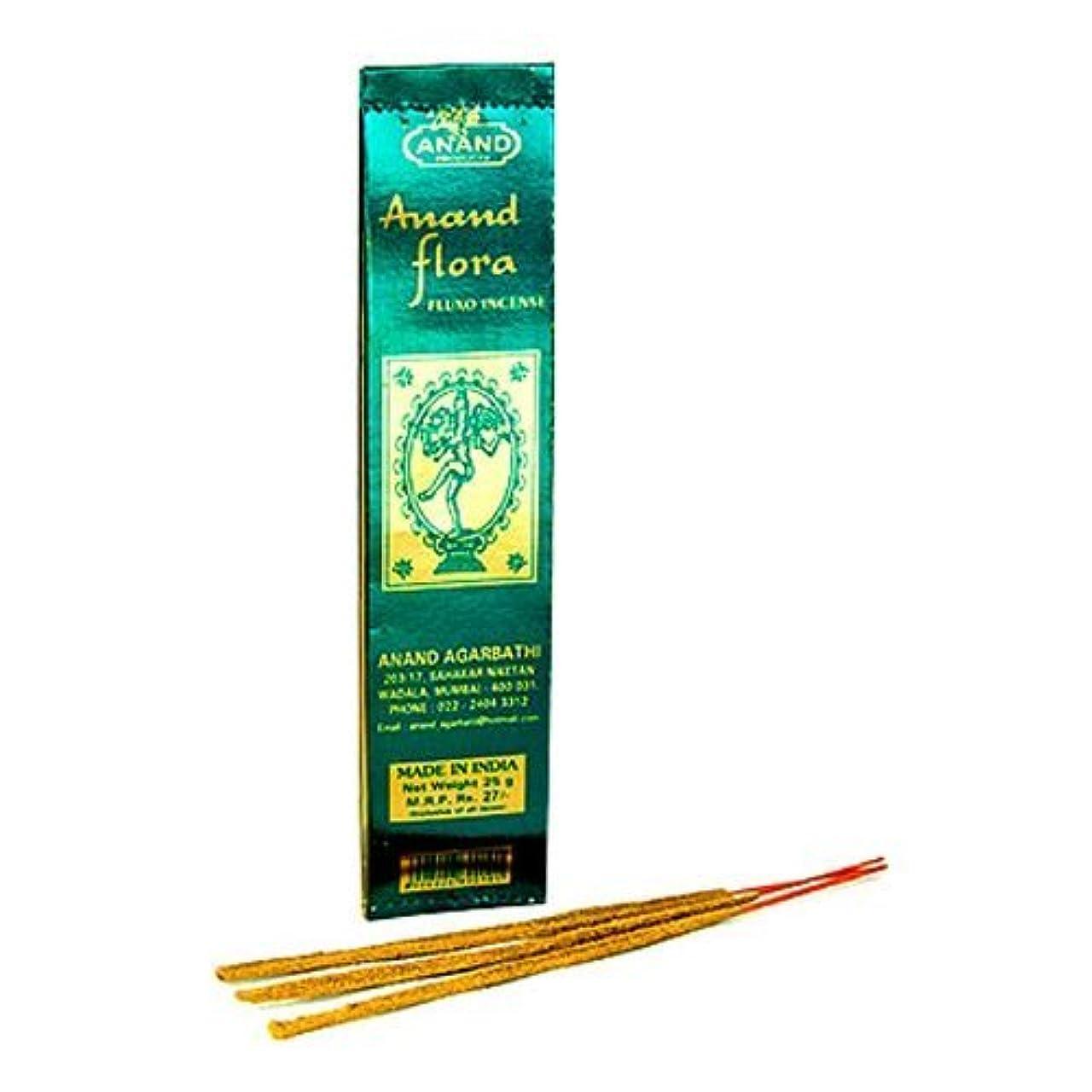 それにもかかわらずワックス粘り強いAnand Flora Fluxo Incense – 5パック、25グラム1パック