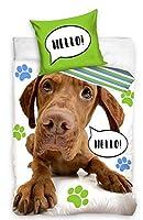 AHS綿100%寝具セットで甘い犬布団カバー140 x 200 cm完璧なベッドセット犬愛好家