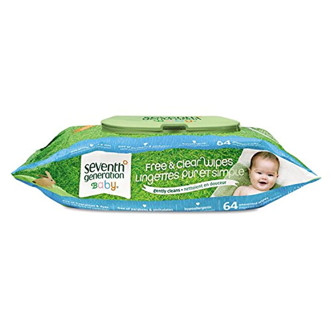 タバコチャネルトレイSeventh Generation Free & Clear Baby Wipes with easy open top, 64 count packs (768 wipes) by Seventh Generation