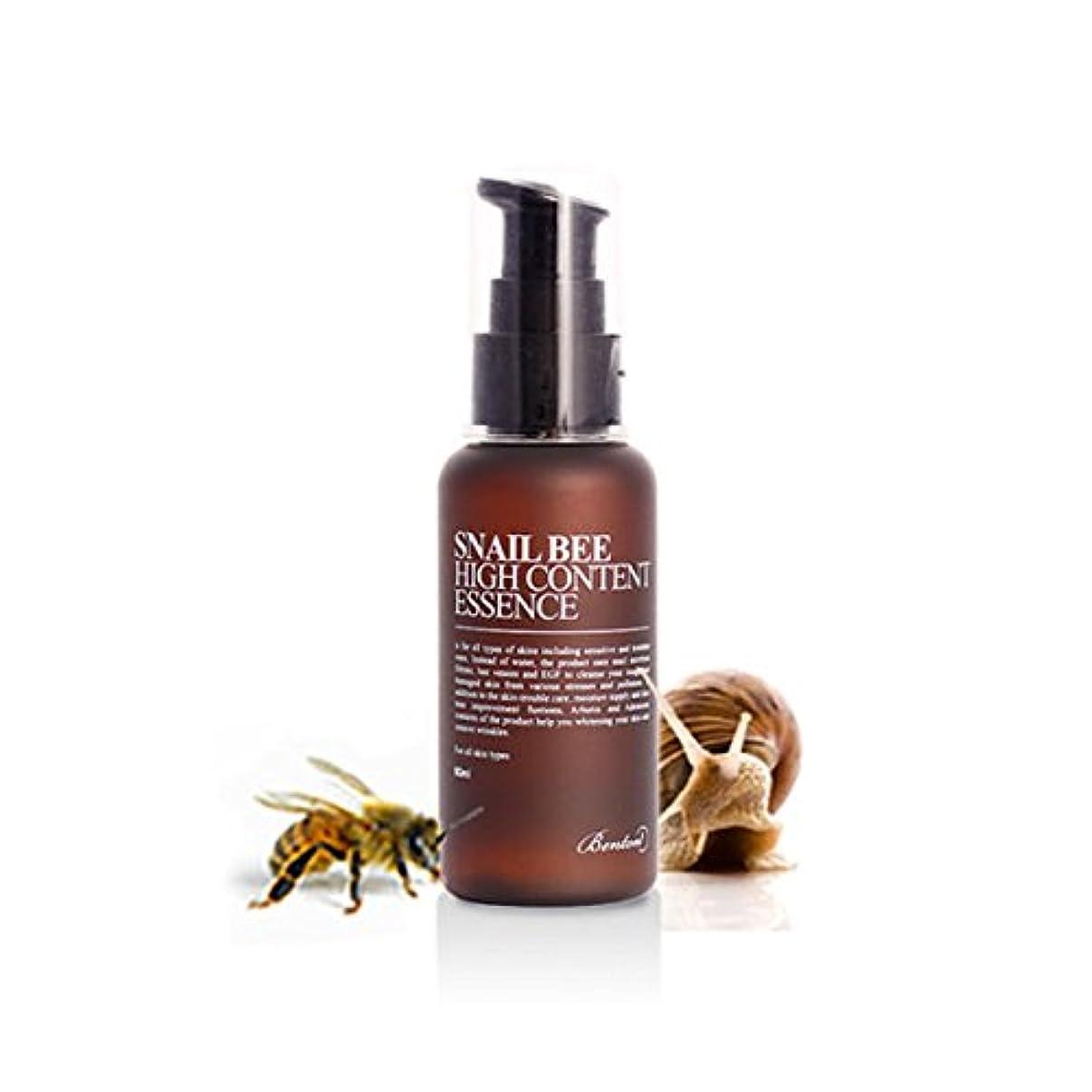 資料学部忌まわしい[ベントン] Benton カタツムリ蜂ハイコンテンツエッセンス Snail Bee High Content Essence 60ml [並行輸入品]