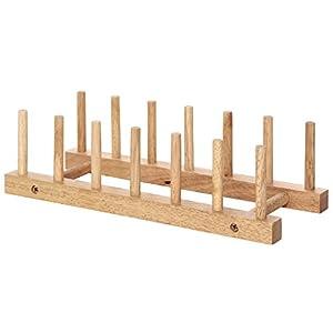 不二貿易 木製 ディッシュスタンド ボヌール キッチン雑貨シリーズ ナチュラル 94385
