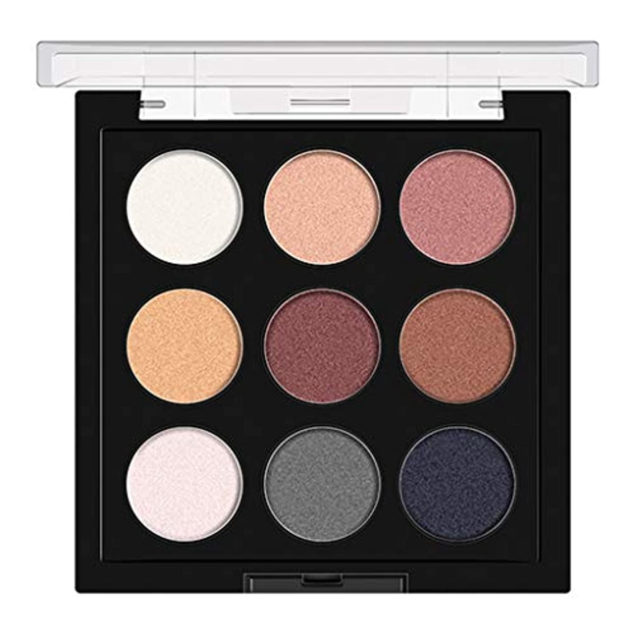 乱用ラボファランクスGOOD lask 9色のアイシャドウディッシュ、化粧茶色マットパールライトアイシャドウ、持ち運びが容易、明るい目、アイシャドウパウダー、美しい自然な三次元化粧アイシャドウ (A)