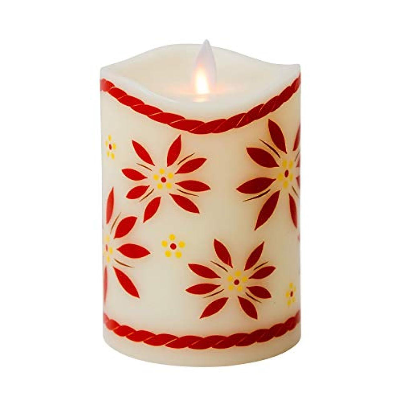 意義ブルーベル乗り出すBoston Warehouse temp-tations by Tara Mystiqueパラフィンワックス5インチOld World Flameless Pillar Candle レッド 40441