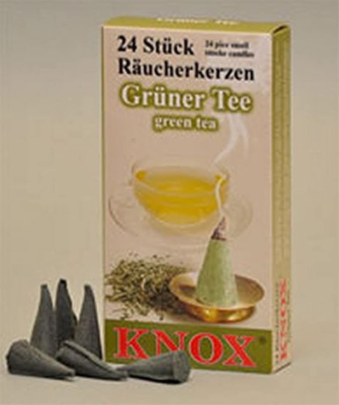 大騒ぎブルジョン株式会社Knox Green Tea Scent German Incense Conesドイツ製forクリスマスSmokers