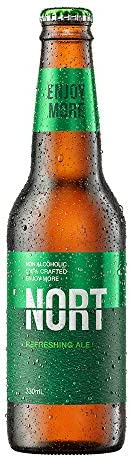 Nort Refreshing Ale, Non Alcoholic Beer, 330ml Case of 24