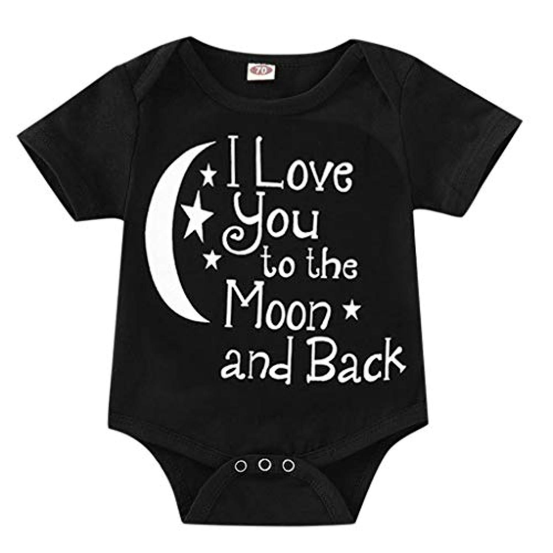 [ポクトロン]ベビー 子供の半袖レタープリント2色ジャンプスーツロンパースロンパースジャンプスーツ