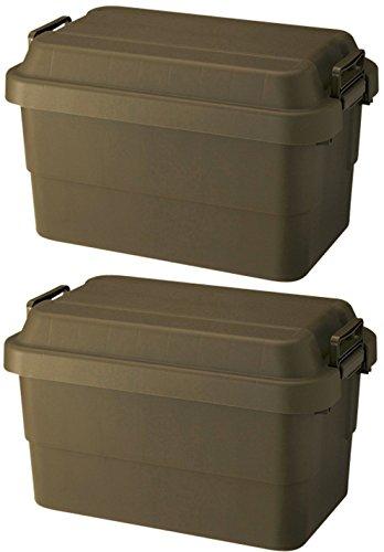 リス 収納ボックス WORK&WORK トランクカーゴTC-50 (50L) グリーン 2個セット