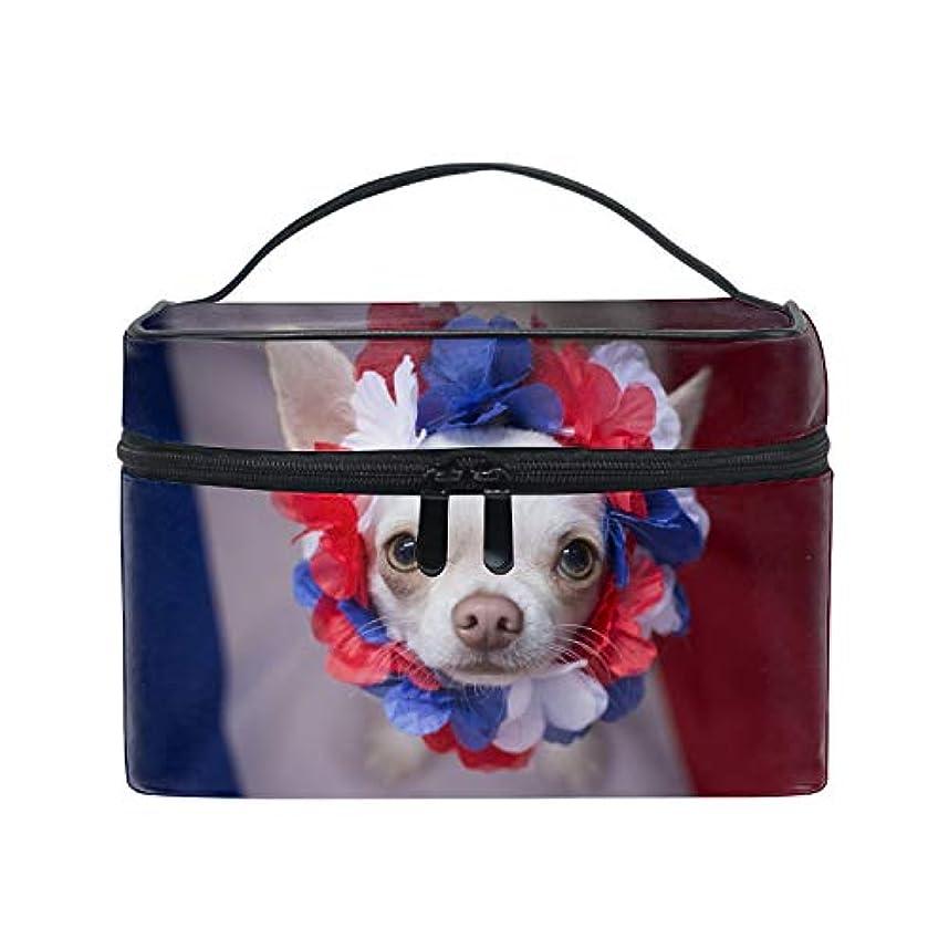 パンサー彼らの利益化粧ポーチ ワイヤーポーチ 収納ケース レディースチワワ小型白犬おめでとうございます