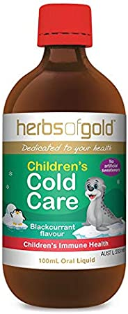 Herbs of Gold Children's Cold Care 100 ml,, Blackcurrant 100 millili