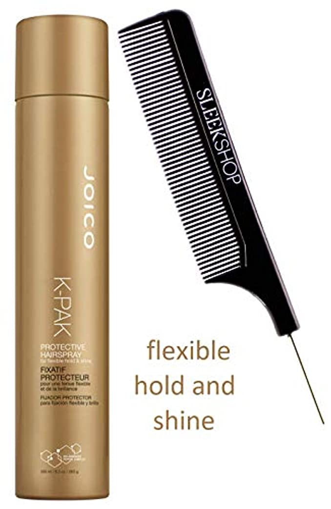 精巧な意気込み触覚Joico Aerosol Hairspray 保護ヘアスプレーのための柔軟なホールド&シャイン、エアゾールヘアースプレー(スタイリストキット)(K-パック - 8.9オンス/ 300 ml)を K-PAK - 8.9オンス/ 300ミリリットル