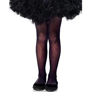 LEG AVENUE(レッグアベニュー)【キッズ】子供用フィッシュネットタイツ BLACK/黒 XLサイズ 4067