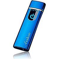 プラズマ ライター 電気 usb ライター Arakoo 小型 充電式 ガス・オイル不要 防風 軽量 薄型 プレゼント