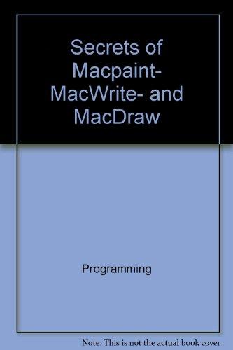 Secrets of MacPaint, MacWrite, and MacDraw (The Little, Brown microcomputer bookshelf)