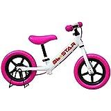 子供用自転車 ランニングバイク BBスター ペダルなし自転車 ランニングバイク トレーニングバイク キッズバイク おもちゃ 乗用玩具 子供 幼児 子供自転車 プレゼントに最適(ピンク)