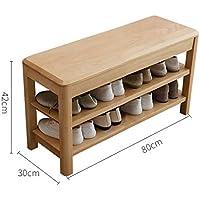 多機能ソリッドウッドシューズベンチシンプルなノルディックシューズスツールシューキャビネットのドアは、靴のベンチに座ることができます (サイズ さいず : 30cm*42cm*80cm)