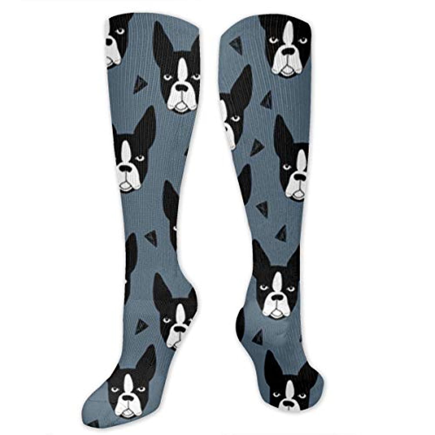 変な正午ベギン靴下,ストッキング,野生のジョーカー,実際,秋の本質,冬必須,サマーウェア&RBXAA Boston Terrier Socks Women's Winter Cotton Long Tube Socks Knee High...