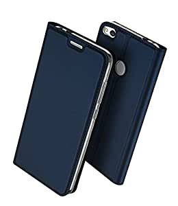 Huawei nova Lite 手帳型 ケース、Uniqe 軽量 P8 Lite 2017 用 ポケット カード収納あり マグネット スタンド機能付き [高級 PU レザー+TPU素材] 耐衝撃 全面保護カバー (nova Lite, ブルー)