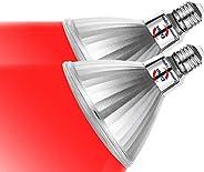 Explux LED彩色光束燈泡(紅光)PAR38 LED燈泡 相當于150W E26口金 IP65防水 支持調光器 PSE認證 2個裝