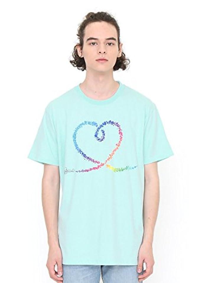 限りなく驚いたことにアクション(グラニフ) graniph Tシャツ ヴェイパートレイルハート (プール) メンズ ユニセックス