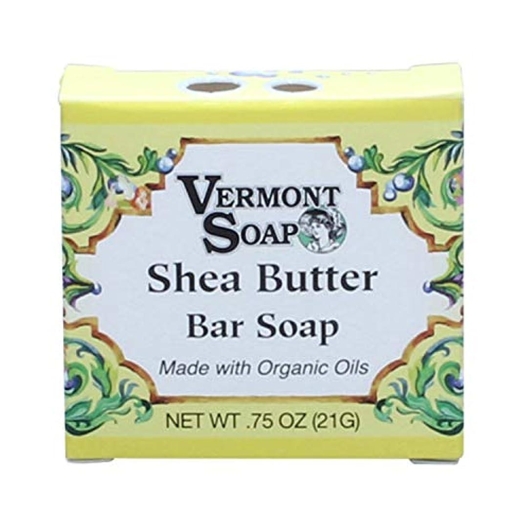 褐色あえぎ振る舞うバーモントソープ トラベルサイズ (シアバター) オーガニック石鹸 洗顔 21g