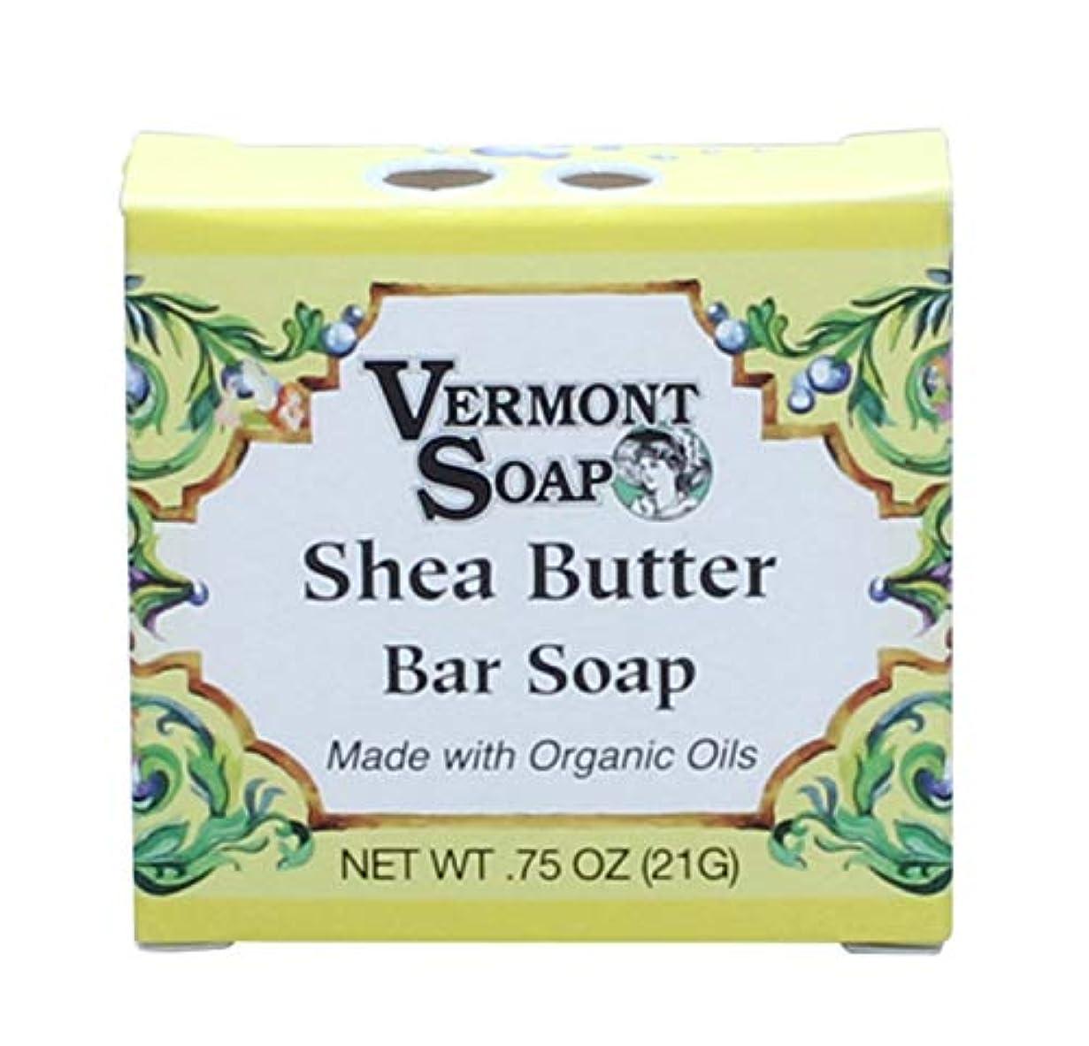 根絶する統合する範囲バーモントソープ トラベルサイズ (シアバター) オーガニック石鹸 洗顔 21g