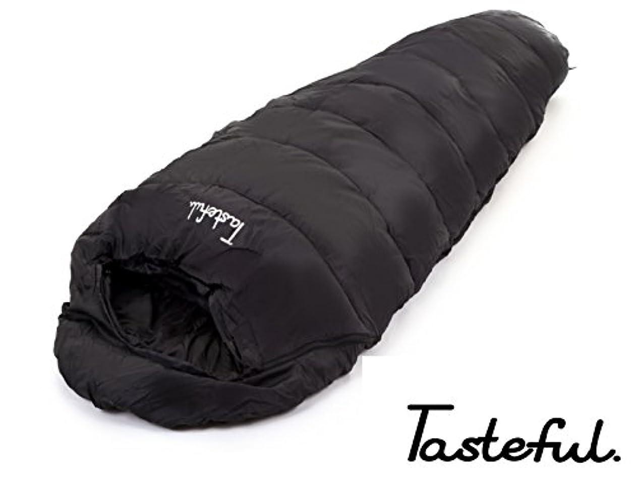 集中考案する終わり【narcist animal】(ナルシストアニマル)寝袋 防水 マミー型シュラフ[最低使用温度 -15℃] ブラック