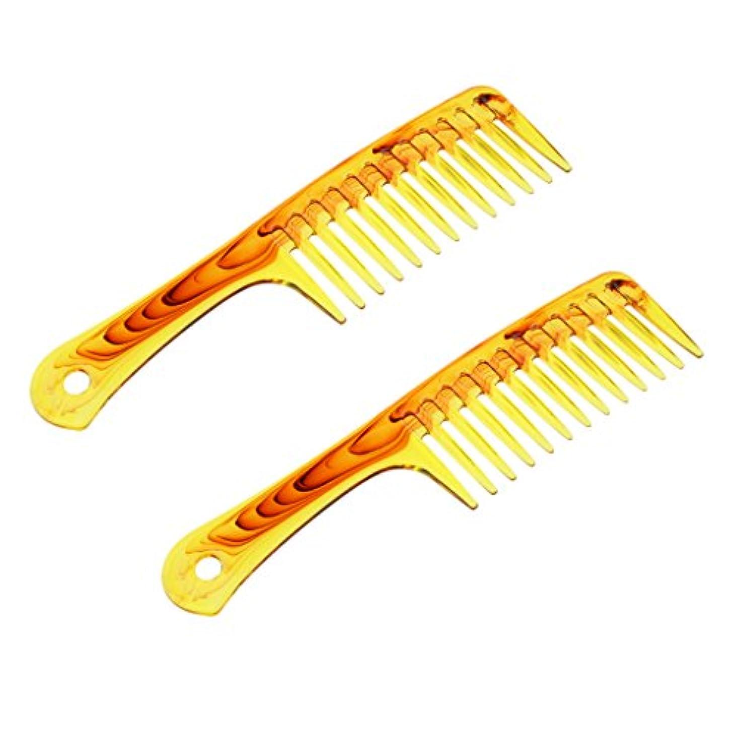 実り多い窓小道具Baosity ヘアコーム プラスチック製 2個入 櫛 くし シャンプー 広い歯