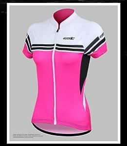 夏女性用サイクルウェア 半袖 ジャージ おしゃれサイクリングファッション