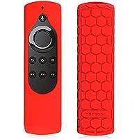 Fintie Fire TV Stick 音声認識リモコン専用カバー 軽量 滑りとめ 衝撃吸収 シリコン保護ケース (レッド)