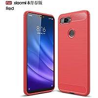 の Xiaomi Mi 8 Youth フォンケース Scheam 耐衝撃性 シェル 耐久性のある - Red