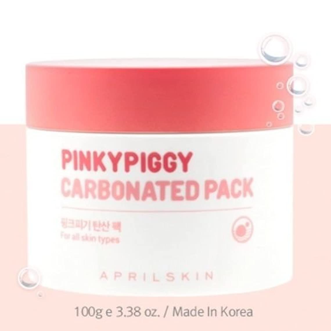 けがをする壮大チャンピオンApril Skin Pinky Piggy Carbonated Pack 100g(3.38oz)/100% Authentic Direct from Korea [並行輸入品]
