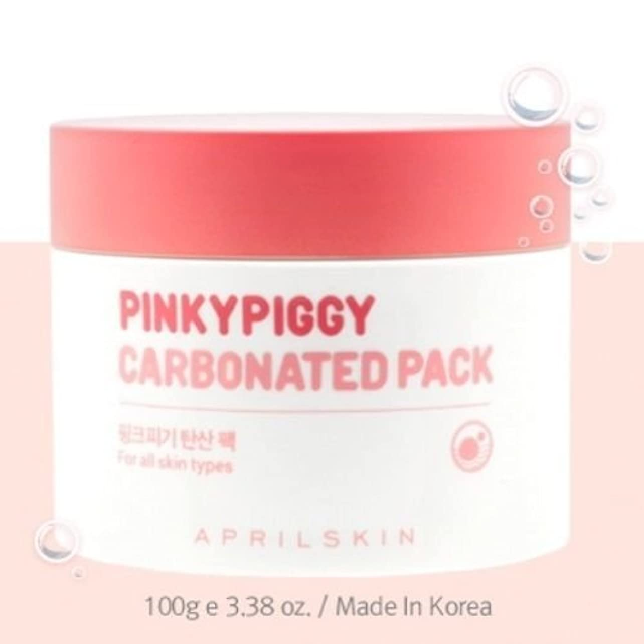 先入観補正酸化物April Skin Pinky Piggy Carbonated Pack 100g(3.38oz)/100% Authentic Direct from Korea [並行輸入品]