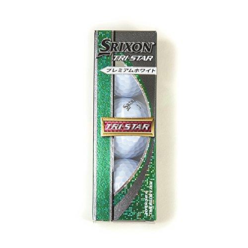 DUNLOP(ダンロップ) ゴルフ ボール SRIXON TRI-STAR 1スリーブ 3球入り プレミアムホワイト SNTRSPWL3