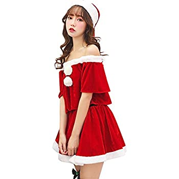 8734f49a663b2 Jocolate(ジョコレート) サンタコス サンタワンピース サンタ コスプレ サンタクロース 衣装 サンタ クリスマス レディース ワンピース  女の子