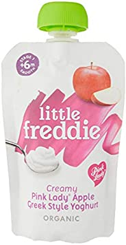 Little Freddie Organic Creamy Pink Lady Apple Greek Style Yoghurt, 100 g