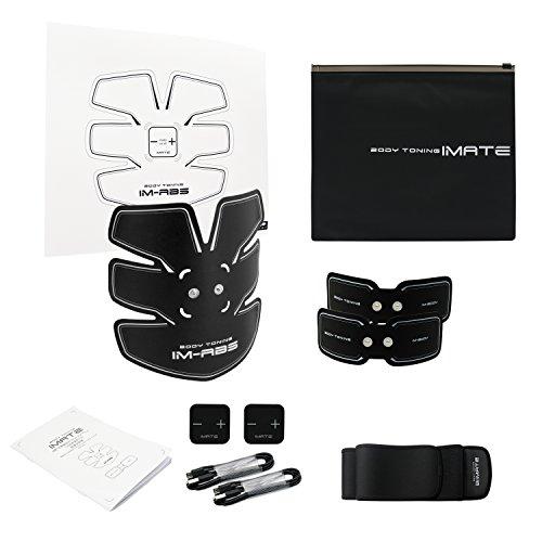 腹筋ベルト EMS腹筋トレ フィットネスマシン ダイエット器具 腰 背 脚 腕 男女兼用 (052-USB充電)