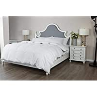 PEACE NEST 75% Natural White Down Duvet Winter Comforter, 700 Thread Count,800 Fill Power, 100% Cotton Cover, White, King size [並行輸入品]