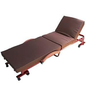 エムール 組立不要 折りたたみベッド『メホールコンパクト』 ブラウン