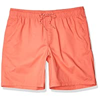 "Amazon Essentials Men's 9"" Inseam Drawstring Walk Short, Coral, Large"