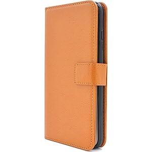 PLATA iPhone7 Plus / iPhone8 Plus ケース 手帳型 カラー レザー スタンド ポーチ アイフォン7プラス アイフォン8プラス 【 オレンジ おれんじ orange 】 IP7P-9900OR